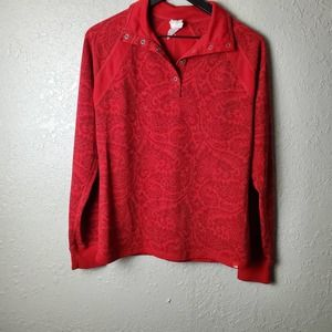 The North Face Paisley Red Top Sz. L
